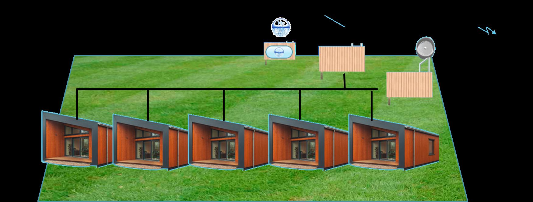 Temporary houses engels